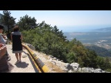 Черногория 2013г. Вид сверху  на море и горы, Панорама.